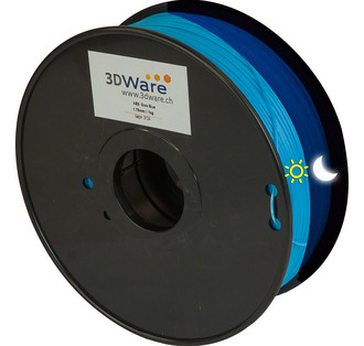Filament ABS Glow in the dark Blau 1.75mm 1Kg