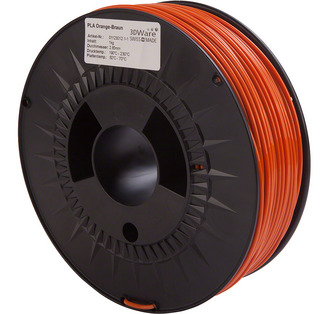 Filament PLA Orange-Braun 3mm 1Kg