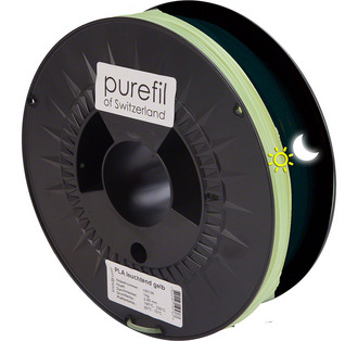 Filament PLA Glow in the Dark Gelb 3mm 1Kg