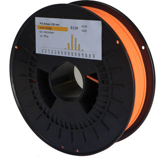 Filament PLA Deluxe Neon - Orange 3mm 750g